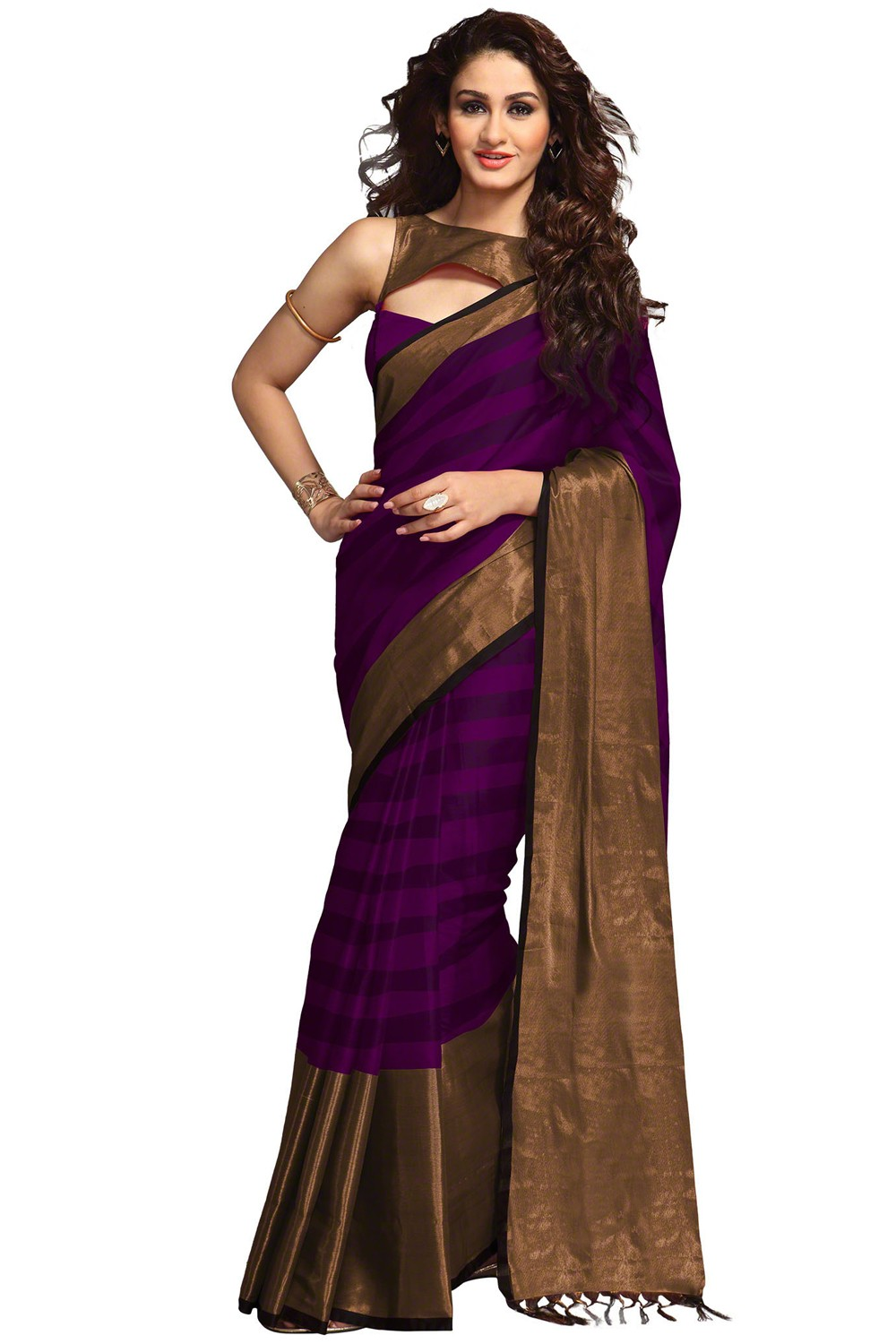 Paaneri Purple With Chiku Color Cotton Printed Saree-Product Code-16110023807