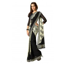 Paaneri Black With Cream Color Georgette Saree-Product Code-160120303204
