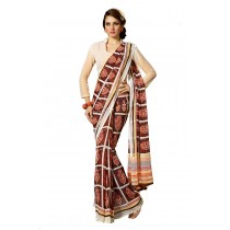 Paaneri Brown Color Flowerest Georgette Saree -Product Code-160120304704