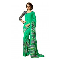 Paaneri Green Color Flowerest Georgette Saree-Product Code-160120304904