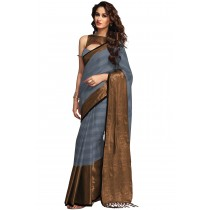 Paaneri Grey With Chiku Color Cotton Printed Saree-Product Code-16110023007