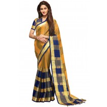 Paaneri Designer Multicolored Checks Cotton Printed Saree-Product Code-16110023107