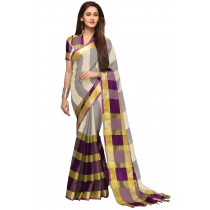Paaneri Multicolored Checks Cotton Printed Saree-Product Code-16110023207