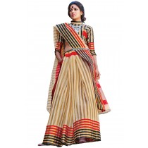 Paaneri Fancy Tan Color Cotton Printed Saree-Product Code-16110025208