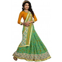 Paaneri Green Color Floral Georgette Printed Saree Product Code-16120019311