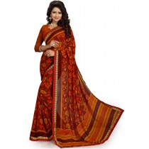 Paaneri Multicolor Floral Georgette Printed Saree Product Code-16120019611