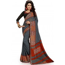 Paaneri Designer Grey Color Georgette Printed Saree Product Code-16120020311