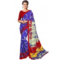 Paaneri Designer Blue Color Georgette Printed Saree Product Code-16120021312