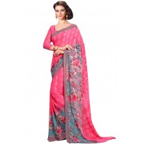 Paaneri Pink Color Floral Georgette Printed Saree Product Code-16120022212