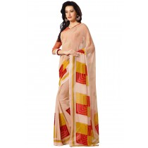Paaneri Tan Color Georgette Saree With Satin Border Pallu-Product Code-16120405406