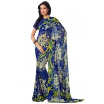 Paaneri Multicolor Flowerest Georgette Saree With Satin Border Pallu-Product Code-16120405906