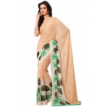 Paaner PeachPuff Color Georgette Saree With Satin Border Pallu-Product Code-16120406106