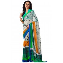 Paaneri Designer Multicolor Georgette Saree-Product Code-16120407606