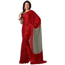 Paaneri Brown Color Satin Printed Saree-Product Code-16120408206