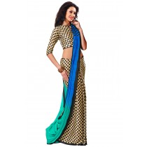 Paaneri Half n Half Multicolor Satin Printed Saree-Product Code-16120408306