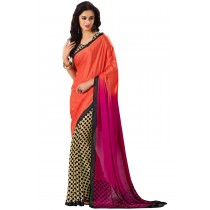 Paaneri Half n Half Multicolor Satin Printed Saree-Product Code-16120408406