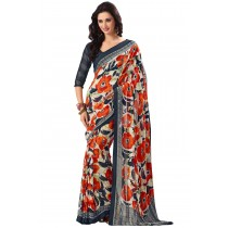 Paaneri Multicolor Flowerest Georgette Saree-Product Code-16120409006