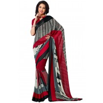 Paaneri Fancy Multicolor Georgette Saree With Satin Border Pallu-Product Code-16120409106
