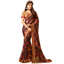 Paaneri Multi Color Flowerest Georgette Saree Product Code-16120500307