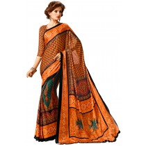 Paaneri Orange Color Georgette Saree Product Code-16120501807