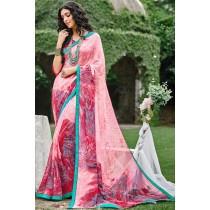 Paaneri Designer Multicolor Georgette Printed Saree-Product Code-17120090533