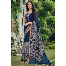 Paaneri Designer Multicolor Georgette Printed Saree-Product Code-17120091133