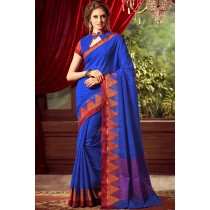 Paaneri Designer Blue Color Linen Silk Saree With Chit Pallu-Product Code-17102221706