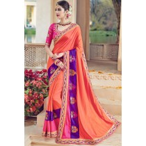 Paaneri Designer Multicolor Embroidery Border Art Silk Saree-Product Code-17119090606