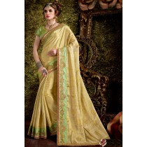 Paaneri Designer Khakhi Color Art Silk Saree-Product Code-17119441404
