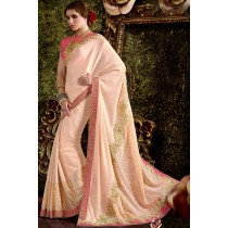 Paaneri Designer Peach Color Silk Georgette Saree-Product Code-17119441604