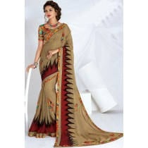 Paaneri Designer Multicolor Fancy Lace Jute With Georgette Saree-Product Code-17120467126