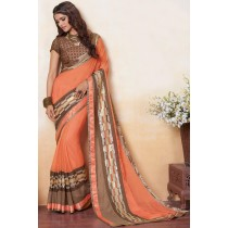 Paaneri Designer Multicolor Embroidery Work Georgette Printed Saree-Product Code-17120483134